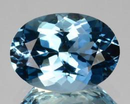 ~FLAWLESS~ 2.57 Cts Santa maria Blue Natural Aquamarine Oval Cut Brazil