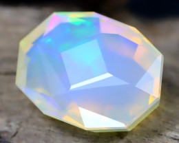 Welo Opal 3.52Ct Master Cut Natural Ethiopian Flash Color Welo Opal C0503