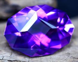 Uruguay Amethyst 6.51Ct VVS Master Cut Natural Violet Amethyst C0507