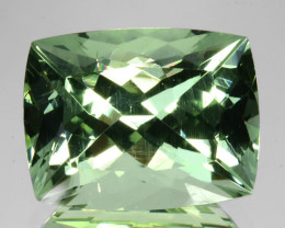 ~BRILLIANT~ 6.07 Cts Natural Green Beryl (Aquamarine) Cushion Brazil