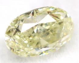 Greenish Yellow Diamond 0.23Ct Natural Fancy Diamond C0502