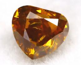 Brownish Orange Diamond 0.11Ct Untreated Genuine Fancy Diamond C0510