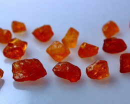 27.25 CT Natural - Unheated Orange  Garnet Rough Lot
