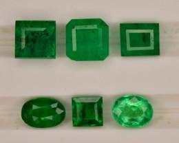 Top  Color 2.20 ct Natural Vivid Green Color Emerald~Swat ~ Lot