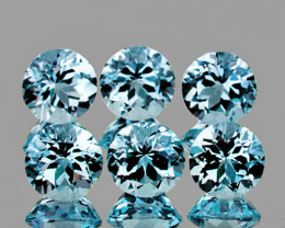 5.00 mm Round 6 pcs 3.42cts Sky Blue Topaz [VVS]