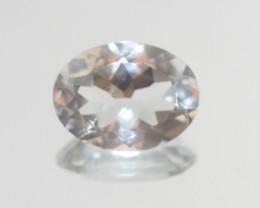 7.7 Ct Rock Crystal Quartz Faceted Oval 16x12mm.-(SKU 406)