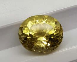 3.39Crt Lemon Quartz Concave Cut Natural Gemstones JI39