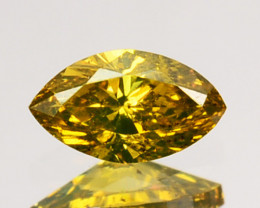 0.14 Cts Natural Diamond Golden Yellow Marquise Cut Africa