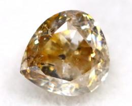 Light Brown Diamond 0.14Ct Natural Fancy Diamond A0602