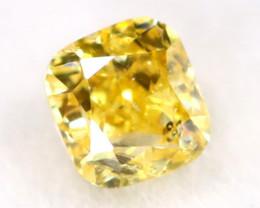 Intense Yellow Diamond 0.11Ct Untreated Genuine Fancy Diamond B0606