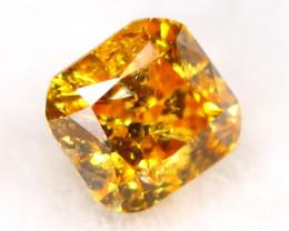 Intense Yellow Orange Diamond 0.12Ct Untreated Genuine Fancy Diamond B0607