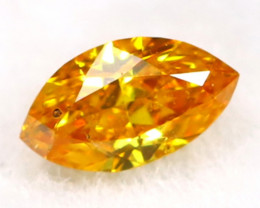 Intense Orange Diamond 0.05Ct Untreated Genuine Fancy Diamond B0609