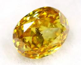 Intense Yellow Diamond 0.16Ct Untreated Genuine Fancy Diamond B0614