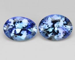 *NoReserve*Tanzanite 2.50 Cts 2pcs rare Violet Blue Color Natural Gemstone