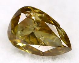 Brownish Green Diamond 0.21Ct Untreated Genuine Fancy Diamond C0604