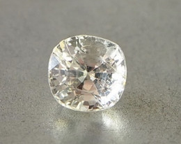 2.08ct unheated light yellow sapphire