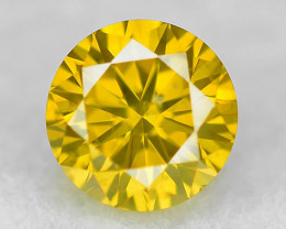 0.20 Cts Sparkling Rare Fancy Vivid Yellow Color Natural Loose Diamond