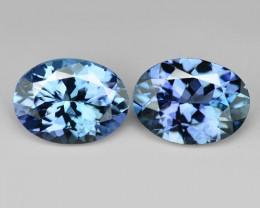 Tanzanite 2.27 Cts 2pcs Amazing rare Violet Blue Color Natural Gemstone