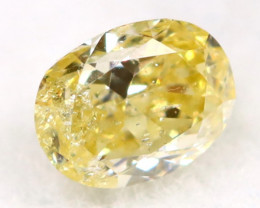 Light Yellow Diamond 0.14Ct Natural Fancy Diamond C0610