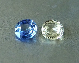 1.12ct unheated clean sapphires