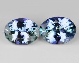 2.45 Cts 2pcs Amazing rare Violet Blue Color Natural Tanzanite Gemstone