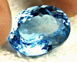 27.22 Carat Blue Brazil Topaz - Gorgeous