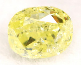 Light Yellow Diamond 0.15Ct Untreated Genuine Fancy Diamond B0710