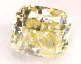 Light Yellow Diamond 0.13Ct Untreated Genuine Fancy Diamond B0713