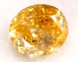 Orange Diamond 0.15Ct Untreated Genuine Fancy Diamond B0715