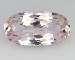 6.76 Ct Natural Kunzite Awesome Color & Cut Gemstone KZ35