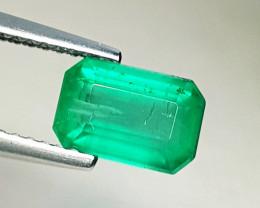 1.97 ct AAA Grade Excellent Gem Octagon Cut Natural Emerald