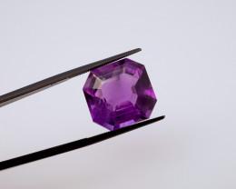 11.95 CT FREE SHIPPING! Custom Fancy Cut Purple Amethyst (Uruguay)