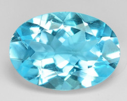 6.47 Carat Super Swiss Blue Natural Topaz Gemstone