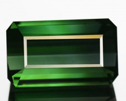 4.86 Cts Natural Green Tourmaline Octagon Cut Nigerian Gem