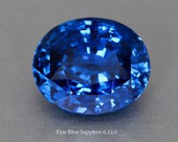 Beautiful Fine Medium Blue Sapphire Oval 6.11ct - 11x9 mm