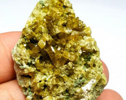 Amazing natural color Epidote Cluster have good color 170Cts-Pak