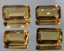 18.32 Cts 4 Pcs  Fancy Golden Yellow Color Natural Citrine Gemstone Lot