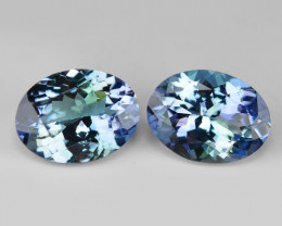 3.44 Cts 2pcs Amazing rare Violet Blue Color Natural Tanzanite Gemstone