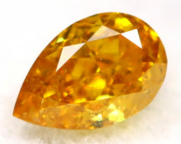 Orange Diamond 0.19Ct Untreated Genuine Fancy Diamond AT0252