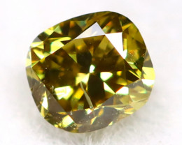 Green Diamond 0.10Ct Untreated Genuine Fancy Diamond AT0256