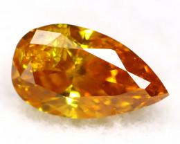 Orange Diamond 0.19Ct Untreated Genuine Fancy Diamond AT0257