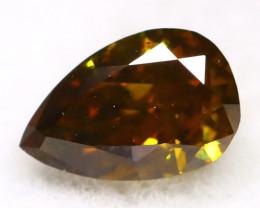 Greenish Brown Diamond 0.18Ct Untreated Genuine Fancy Diamond AT0264