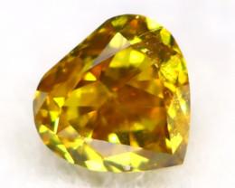 Intense Yellow Orange Diamond 0.11Ct Untreated Genuine Fancy Diamond AT0267