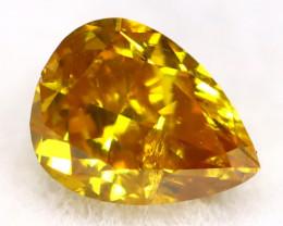 Yellowish Orange Diamond 0.17Ct Untreated Genuine Fancy Diamond AT0270