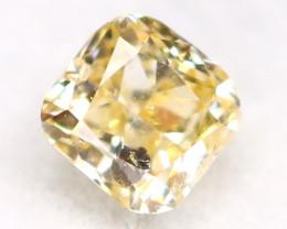 Light Yellow Diamond 0.08Ct Untreated Genuine Fancy Diamond AT0271