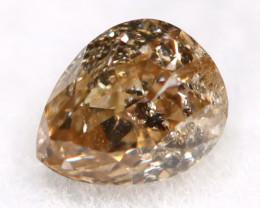 Brownish Orange Diamond 0.15Ct Untreated Genuine Fancy Diamond AT0280