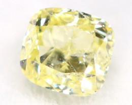 Light Yellow Diamond 0.12Ct Untreated Genuine Fancy Diamond AT0281