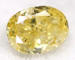 Yellow Diamond 0.11Ct Untreated Genuine Fancy Diamond AT0287