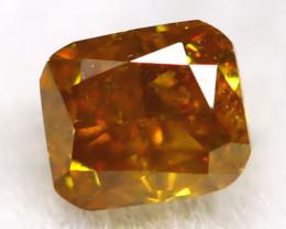 Brownish Orange Diamond 0.13Ct Untreated Genuine Fancy Diamond AT0288