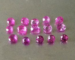3.24ct unheated pink sapphires